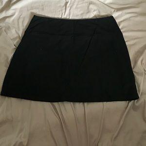 Soft black tennis skirt